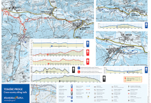 Trasy biegowe, zjazdowe - mapa