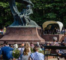Łazienki, pomnik Chopina
